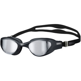 arena The One Mirror Schwimmbrille silver/black/black